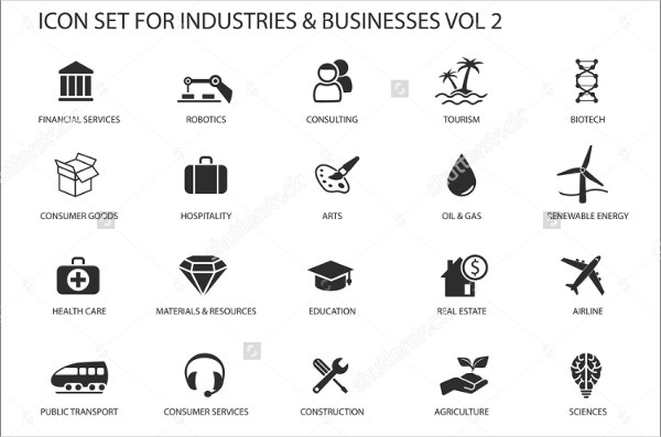 flat industry icon
