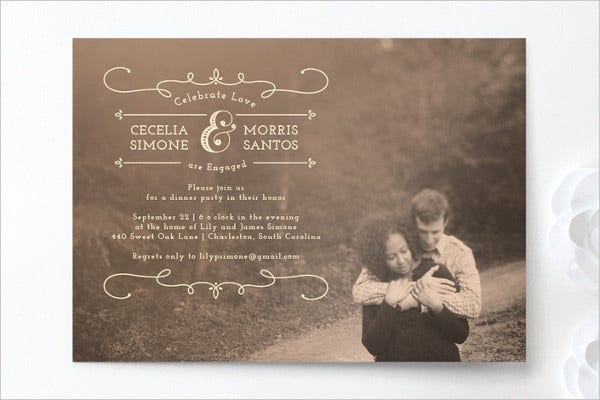formal engagement party invitation