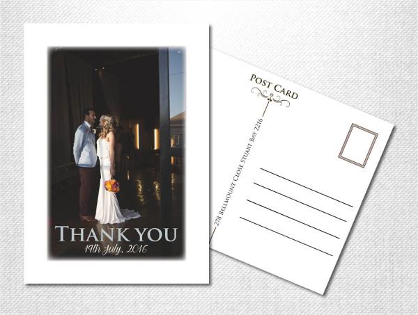 diy vintage postcard invitation