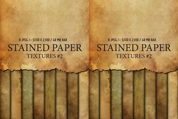 Vector Stained Paper Texture