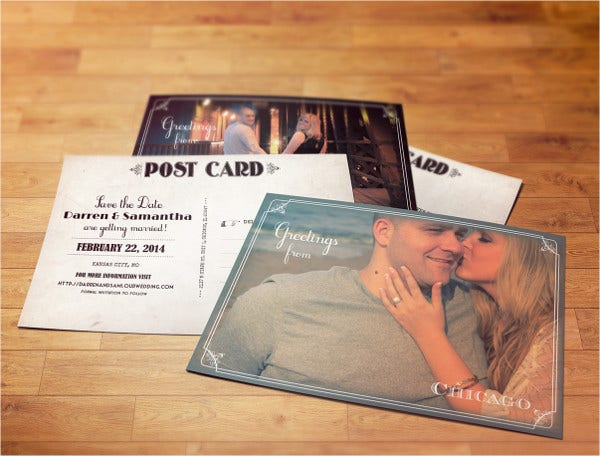 Vintage Save-The-Date Postcards