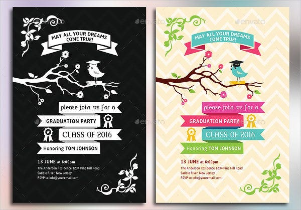 7 graduation party invitations free editable psd ai vector graduation party invitation card templates stopboris Choice Image