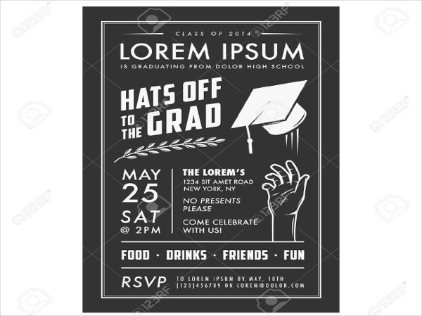 graduation party invitations  free editable psd ai vector, invitation samples