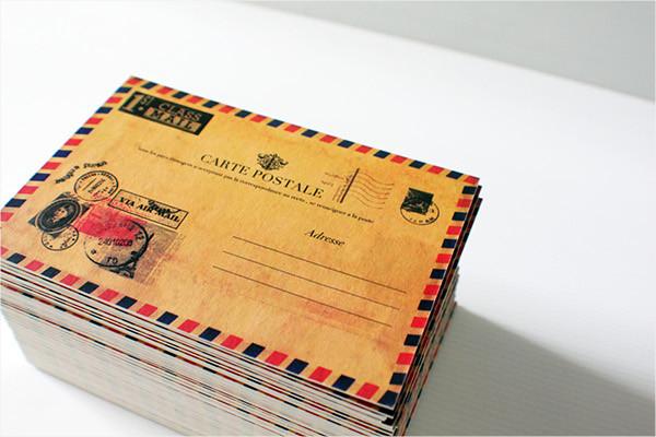 vintage postcard birthday invitation