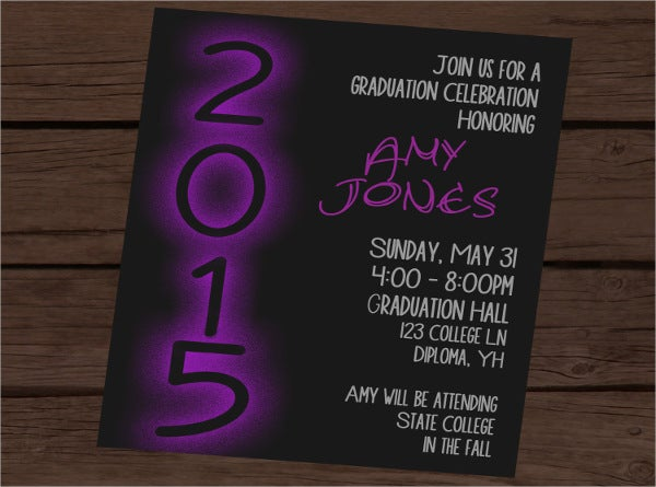 surprise graduation party invitation