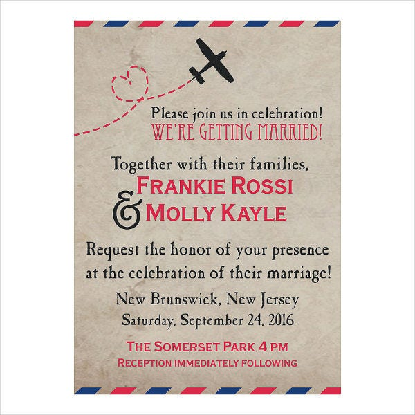 Personalized Vintage Postcard Invitation