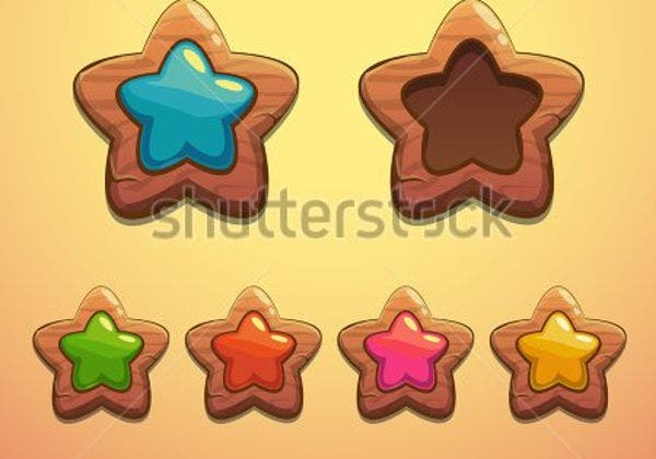 wooden-star-button