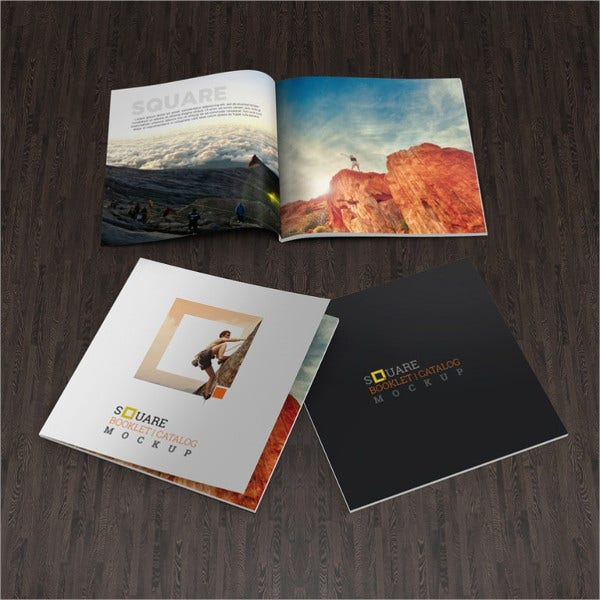 Free Catalogue Mockup PSD