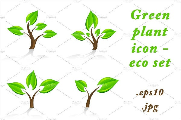 Eco Green Plant Icons