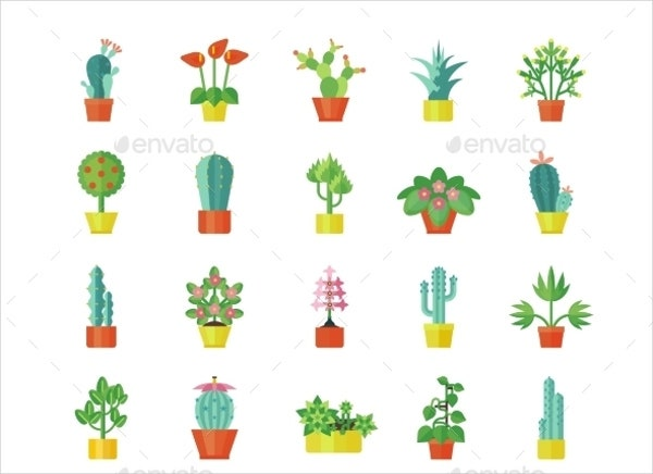 Flat Plant Icons