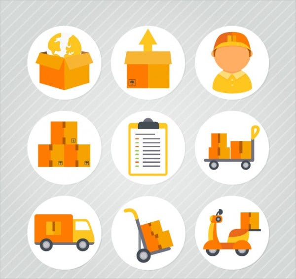 transport delivery icons