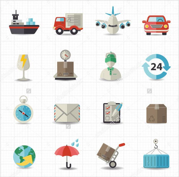 Logistics & Transportation Icons