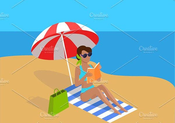 tropical beach vector1