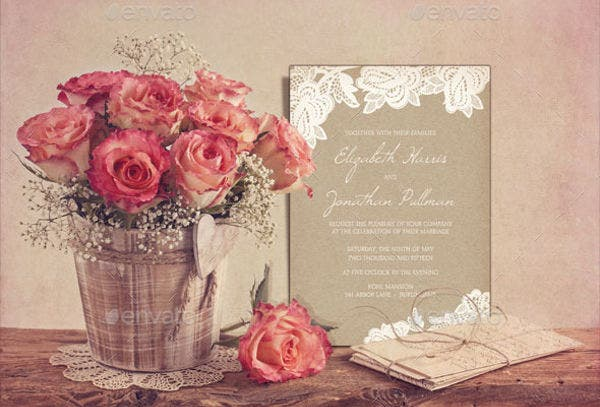 rustic invitation mock up