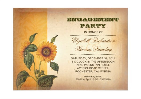 rustic engagement party invitation1