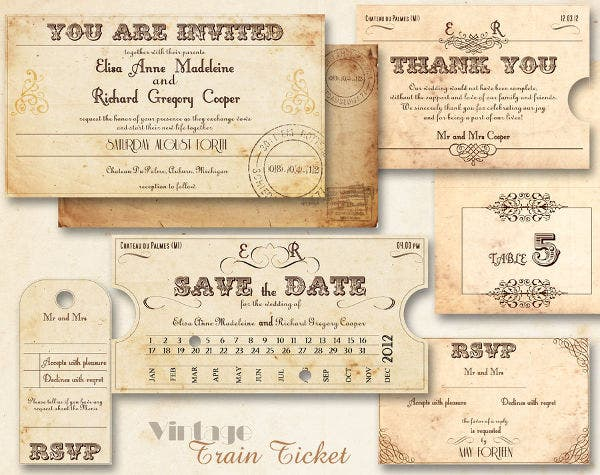 free creative rustic party invitation