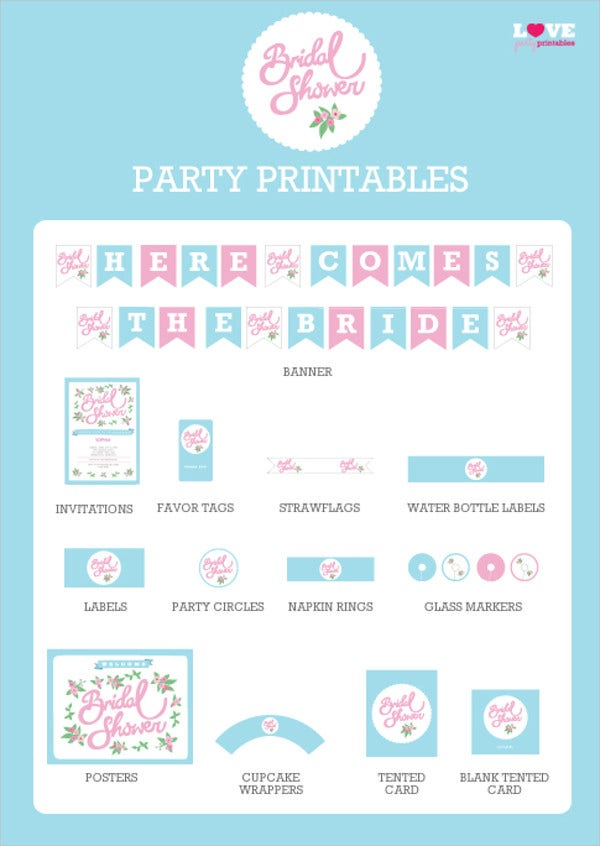 Free Bridal Shower Party Invitation