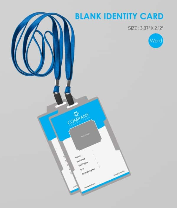 Blank ID Card Templates Free Word PSD EPS Formats Download - Card template free: employee id card template