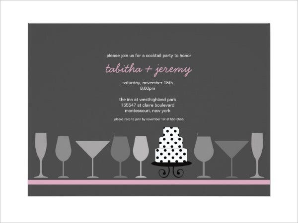 Bridal Shower Cocktail Party Invitation
