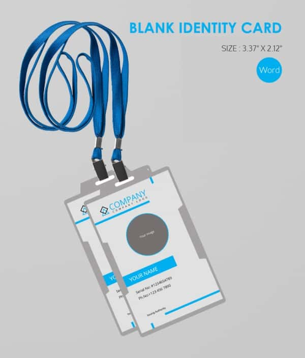 Bland ID Card MS Word Format Download
