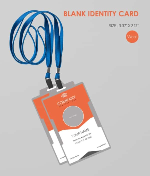 Software Company Blank ID Card Template