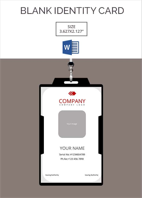 Blank ID Card Templates Free Word PSD EPS Formats Download - Card template free: blank id card template