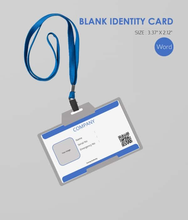 Blank ID Card With QR Code