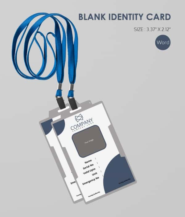 Download Blank ID Card With Tag