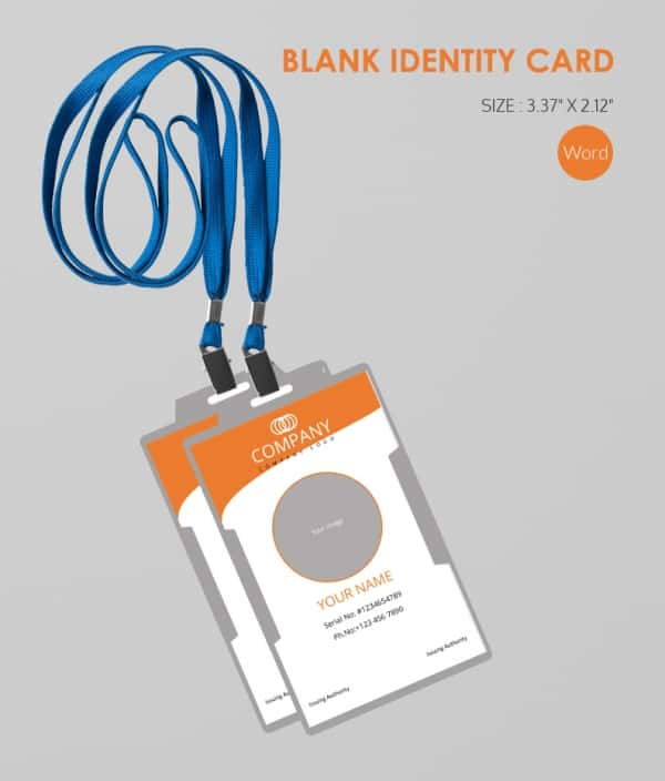 Business Use Blank ID Card Template