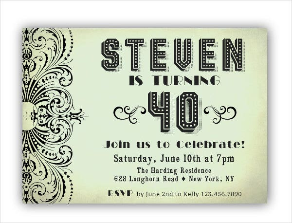 9 Dinner Party Invitations Free Sample Example Format – Birthday Dinner Party Invitations