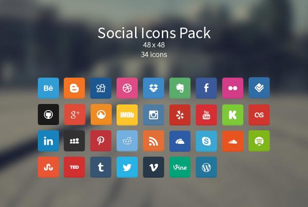 Minimal Social Icons