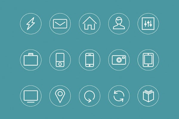 Free Set of Minimal Icons