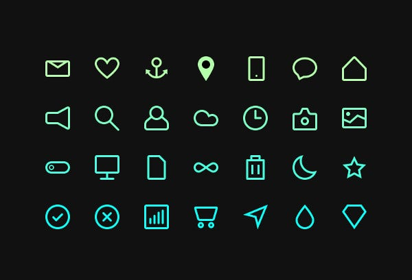 Collection of Minimal Icons