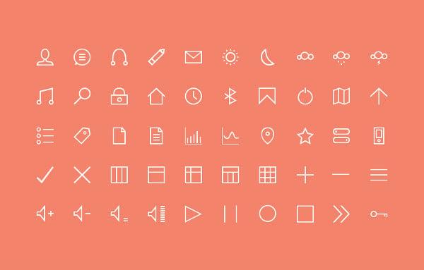 50 Free Minimal Icons