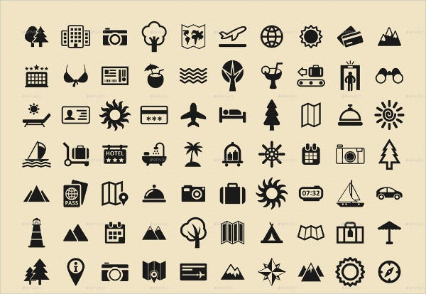 Vector Tourism Icons