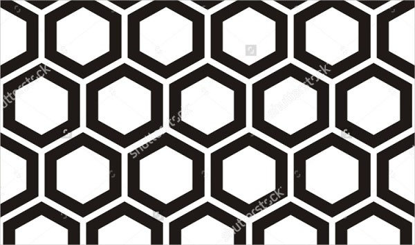 black-and-white-honeycomb-pattern