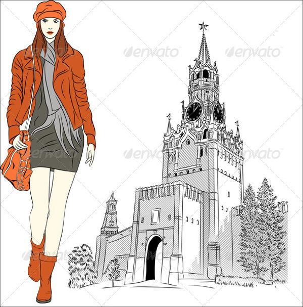 fashion-sketch-vector