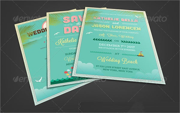 Beach Wedding Party Invitation