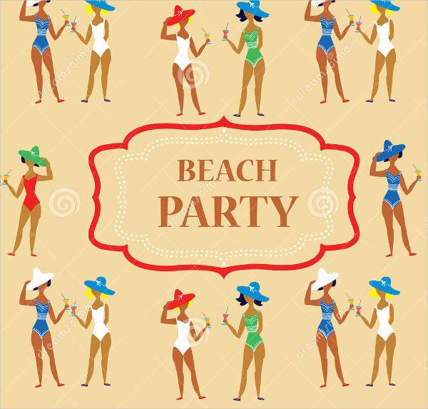 funny beach party invitation