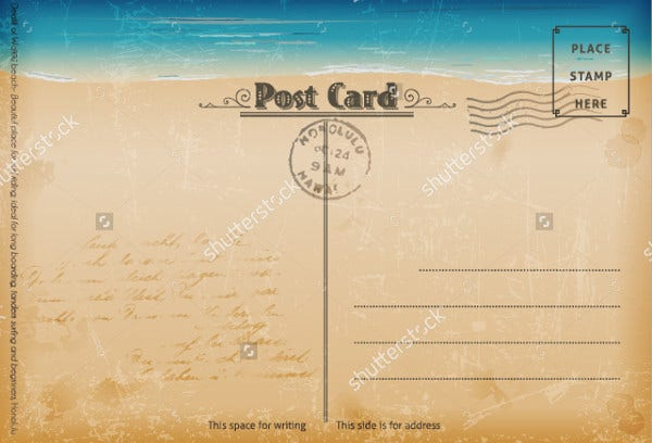 Vintage Summer Postcard Template