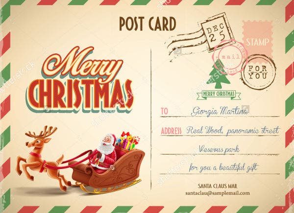 Printable Vintage Postcard Template