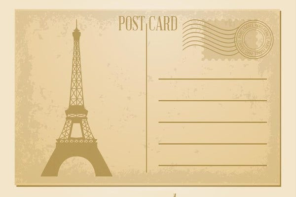 Vintage Postcard Templates Free PSD AI Vector EPS Format - Postcard template free download