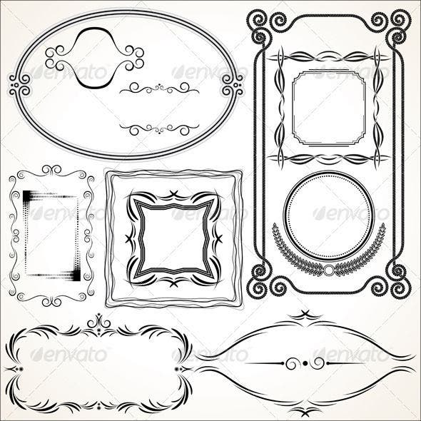 damask-frame-vector