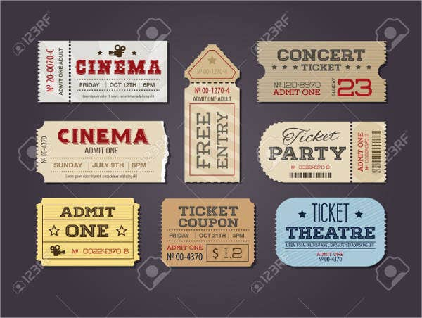 12 carnival ticket templates free psd ai vector eps for Entry tickets template