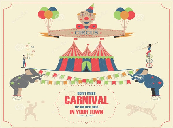 Circus Invitation Card Template
