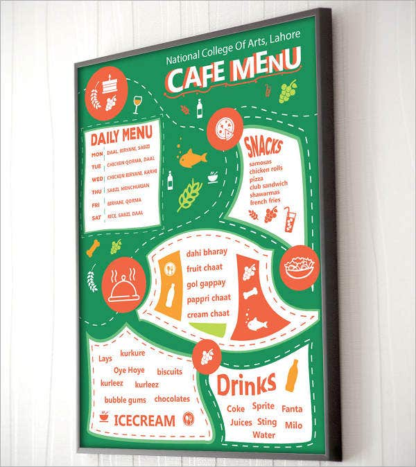 Cafe Menu Mockup