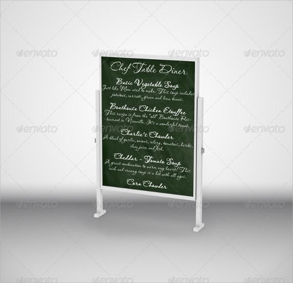 Chalkboard Menu Mockup