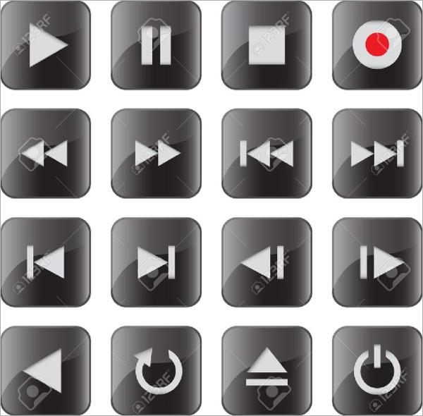 Control Black Button