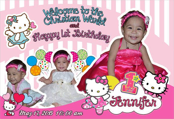 free hello kitty sample birthday invitation