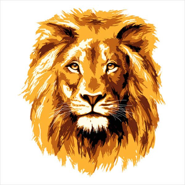 golden-lion-vector